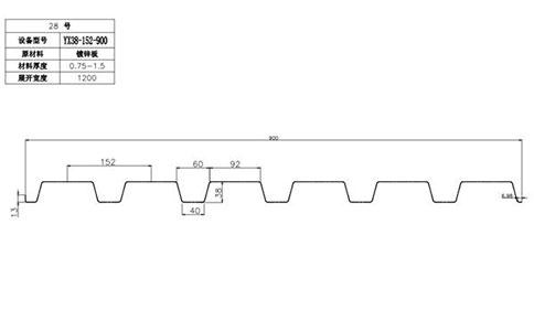 YX38-152-900开口楼承板